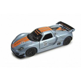 Welly - Porsche 918 RSR 1:34 šedooranžové