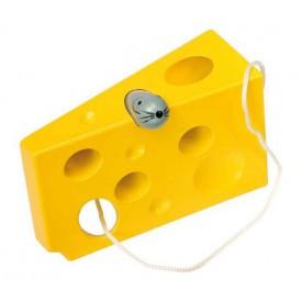 Hra na provlékání Sýr s myší - žlutá verze