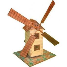 Dřevěná slepovací stavebnice Walachia Větrný mlýn