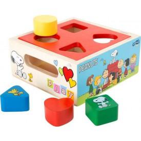 Dřevěná hračka - Snoopy vkládání tvarů