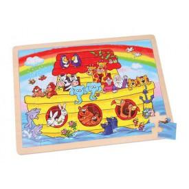 Dřevěné hračky -  Puzzle Noemova archa