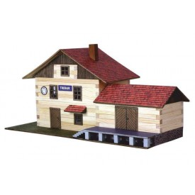 Dřevěná slepovací stavebnice Walachia Vlakové nádraží
