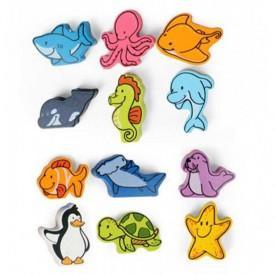HAPE devěné hračky - Mořský svět v tubě