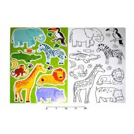 Dekorace nálepky na zeď omalovánky Safari