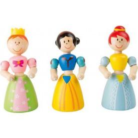 Flexibilní dřevěné panenky Princezny