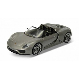 Welly - Porsche 918 Spyder 1:24 šedé