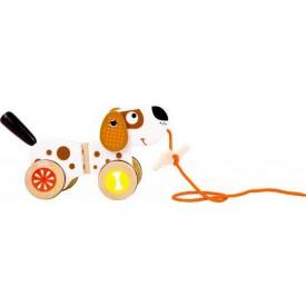 Dřevěné hračky - Tahací pes