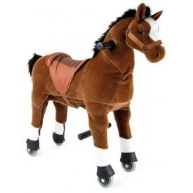 Pohyblivý dětský jezdecký kůň - Hříbě na kolečkách