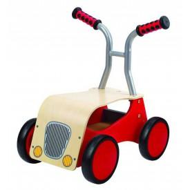 HAPE dřevěné hračky - dřevěné červené odrážedlo