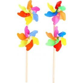 Dětské dřevěné hry - Dvojitý větrník - 2 kusy