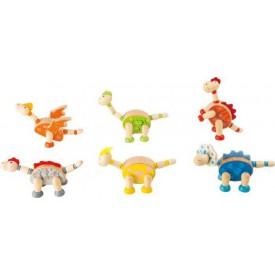Flexibilní dřevěné figurky Dinosauři