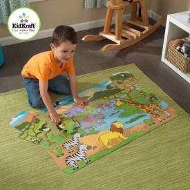 KidKraft velké papírové puzzle Safari