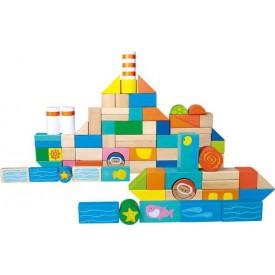Dřevěné stavební kostky Podmořský svět