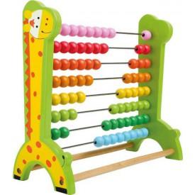 Školní pomůcky - dřevěné počítadlo Žirafa