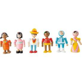 Flexibilní dřevěné figurky lidé všech národností