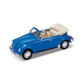 Welly - Model auta VW Beetle cabriolet 1:24 modrý