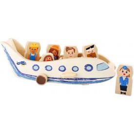 Dřevěné hračky - Letadlo s cestujícími
