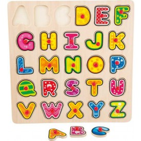 Dřevěné hračky - Vkládací puzzle abeceda
