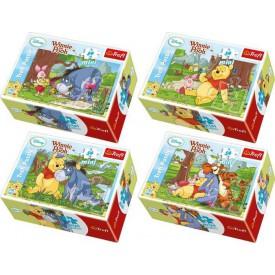 Medvídek Pů mini puzzle - 1ks