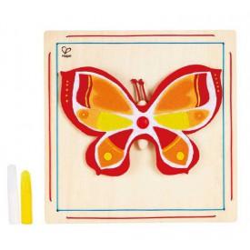HAPE dřevěné hračky - dřevěná kreativní sada motýl