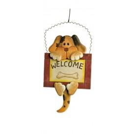 Keramická dekorace - Dekorativní vývěska Welcome - pes