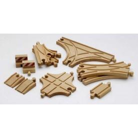 Vláčkodráhy Brio - Sada kolejnic pro vláčkodráhy, 11 kusů