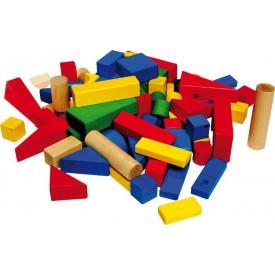 Stavební kostky, barevné