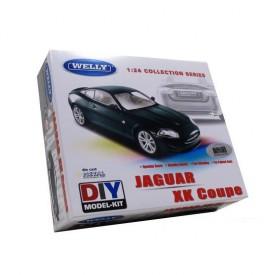Welly - Jaguar XK Coupe 1:24 zelený kit stavebnice