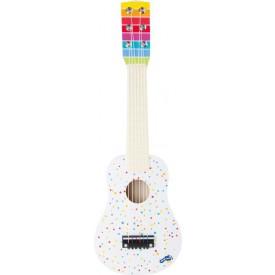 Dřevěná kytara s puntíky
