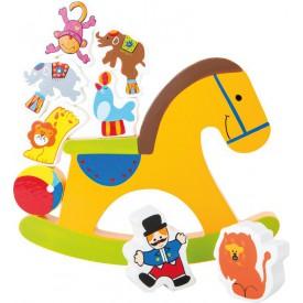 Dřevěná motorická hra - Koník cirkus