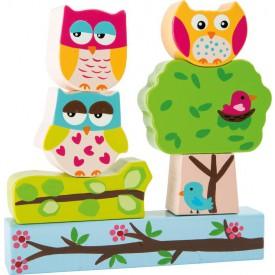 Dřevěné puzzle sovičky