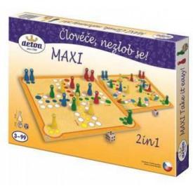 Dřevěné hračky - Dřevěné hry - Člověče nezlob se maxi 2 in1