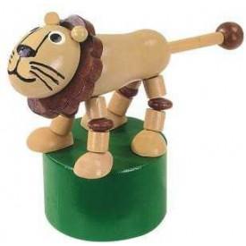 Dřevěné hračky -  dekorace - Mačkací figurka Lev