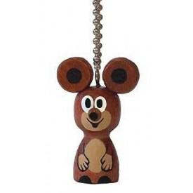 Dřevěné hračky -  dřevěné dekorace - Klíčenka mini Myška