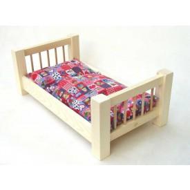 Dřevěné hračky pro holky - Velká přírodní postel
