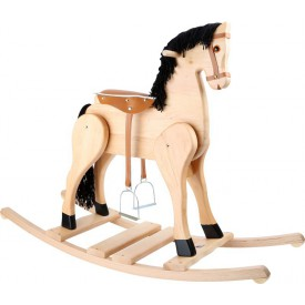 Dřevěný houpací kůň Deluxe