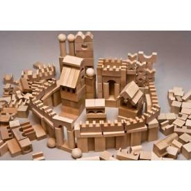 Dřevěné kostky v tubě - Velké dřevěné přírodní kostky 220 XL