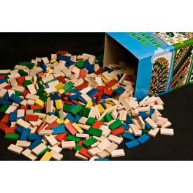 Dřevěné hry - Dřevěné domino v tubě - 800 ks