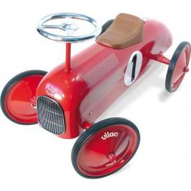 Vilac - Kovové odrážedlo - Historické závodní auto - červené