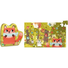 Vilac dřevěné puzzle Zvířátka v lese