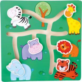 Dřevěné hra - Zvířátka Safari