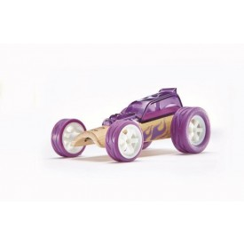 HAPE dřevěné auto - Závodní autíčko Hape Mini Hot Rod