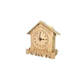 Dřevěné skládačky 3D puzzle - Hodiny - F003