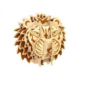 Dřevěné skládačky 3D puzzle - Hlava lva