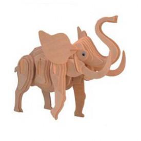 Dřevěné 3D puzzle dřevěná skládačka zvířata velký Slon M016