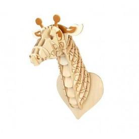 Dřevěné skládačky 3D puzzle - Hlava žirafy