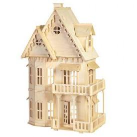 Dřevěné skládačky 3D puzzle slavné budovy -Gotický dům DH001