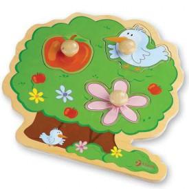 Dřevěné hračky - Vkládací puzzle - Vkládačka Strom