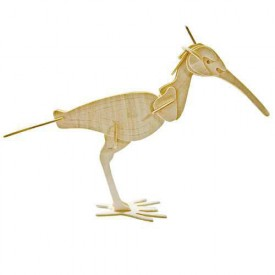 Dřevěné 3D puzzle dřevěná skládačka ptáci - Pták kulik E035