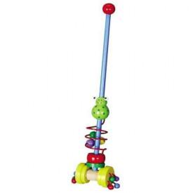 Dřevěné hračky - Tahací hračky - Jezdík žabka